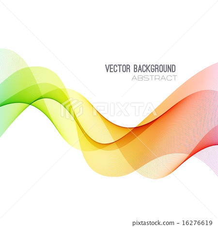 Abstract curved lines background. Template brochure design - Stock ...