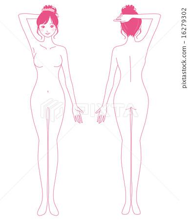 女性美容脱毛裸体 16279302