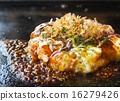철판 요리 오코노미 야키 16279426