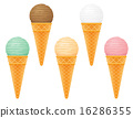 ice cream ball in waffle cone vector illustration 16286355