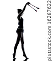 Rhythmic Gymnastics teeenager girl woman silhouette 16287622