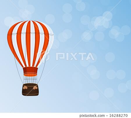 Air Balloon Background Vector Illustration 16288270