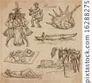 Hawaii - Travel. An hand drawn vectors. 16288275