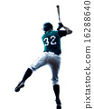 man baseball player silhouette isolated 16288640