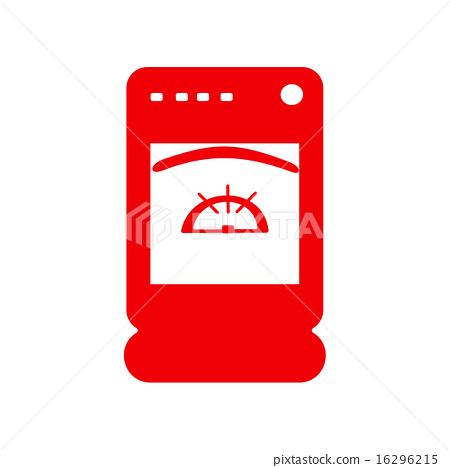 icon sticker realistic design on paper cooker 16296215