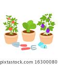 Cute  vegetable pot vector illustration 16300080