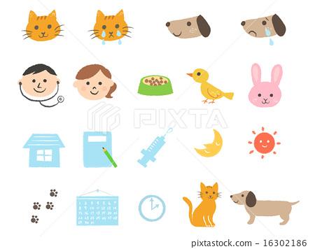 圖標 Icon 動物醫院 16302186