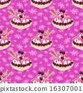 Seamless, Ice Cream and Floral Pattern 16307001