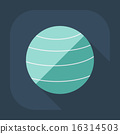 Flat modern design with shadow icon Ball for fitness 16314503