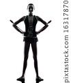 Rhythmic Gymnastics teeenager girl woman silhouette 16317870