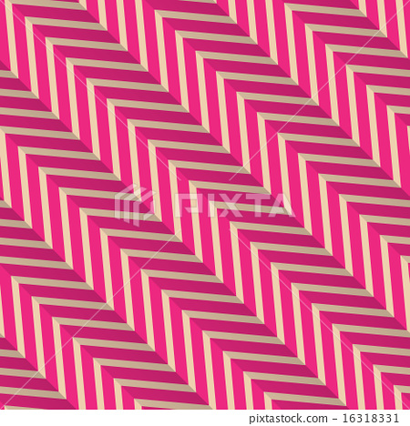 Retro fold magenta diagonal striped zigzag 16318331