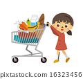 shopping, cart, vector 16323456