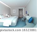 3d bedroom rendering, hotel rooms 16323881