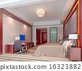 3d bedroom rendering, hotel rooms 16323882