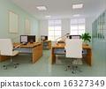 3d modern office room. 16327349