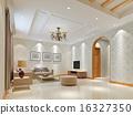 3d render modern interior of living-room 16327350