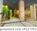 3d futuristic corridor, hall. 16327353