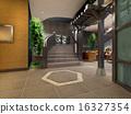 3d futuristic corridor. 16327354