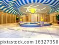 3d public bathrooms of  hall, corridor. 16327358