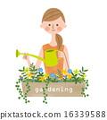 矢量 園藝 花朵 16339588