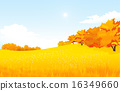 Vector of autumn landscape. 16349660