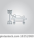 Illustration of Life icons, hospitalized 16352060