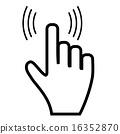 Click hand icon pointer 16352870