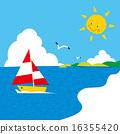 เกาะในทะเลอันอบอุ่นบาดแผลแสงแดดนกนางนวลเรือยอชท์ 02 16355420