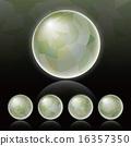 立體派背景_球體_光偽裝綠色 16357350