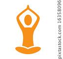 emblem, yoga, pose 16358096