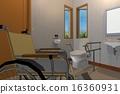 서양식, 화장실, 휠체어 16360931