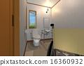 서양식, 화장실, 휠체어 16360932