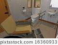 서양식, 화장실, 휠체어 16360933