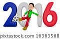 축구, 소년, 남자 16363568