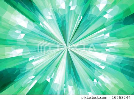 Cubism background _ radiation _ dark green 16368244