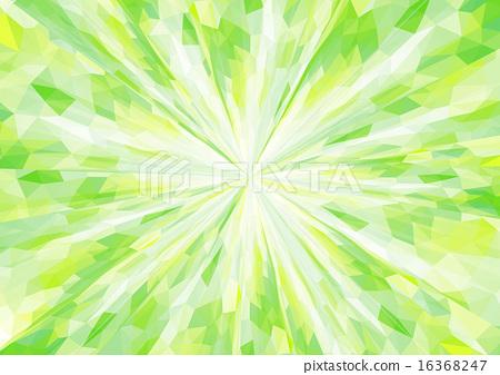Cubism background _ radiation _ refreshing green 16368247