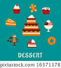 snack pastry confectionery 16371378