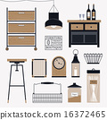 vector, interior, kitchen 16372465