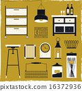 vector, accessories, furniture 16372936