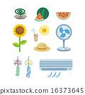 夏季圖像 夏天 夏 16373645