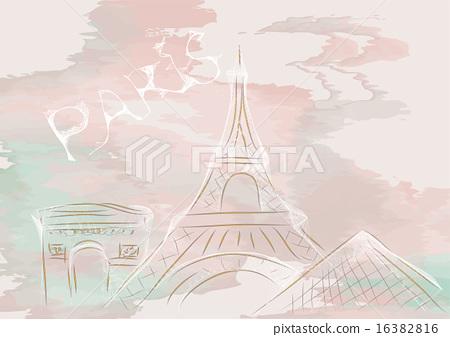 paris, abstract skyline 16382816