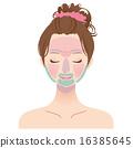 女性化妆脸毛脱毛部分 16385645
