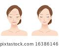 Female face Beauty wrinkle 16386146