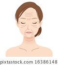 Female face Beauty wrinkle 16386148