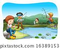 river, fishing, boys 16389153