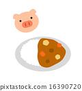 咖哩 豬肉咖哩 咖哩飯 16390720
