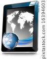 Tablet Computer With World Map 16394603