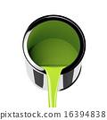 Green paint 16394838