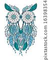 dreamcatcher, blue, illustration 16398354