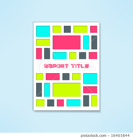 Vector brochure template in modern bright design. Book cover with ...